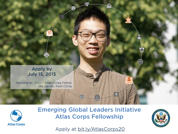 We're now recruiting fore 2016. Apply by July 15 at bit.ly/AtlasCorps20