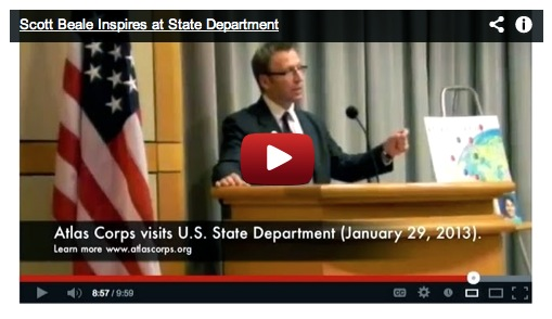 Scott Beale speaks at State Department